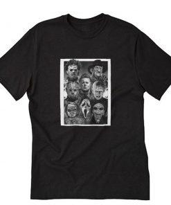 All Horror Movie Character Halloween T-Shirt PU27