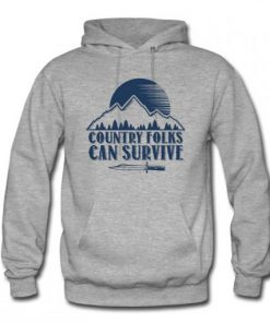 Country Folks can survive Hoodie PU27