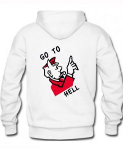 Superrradical Go To Hell Hoodie Back PU27