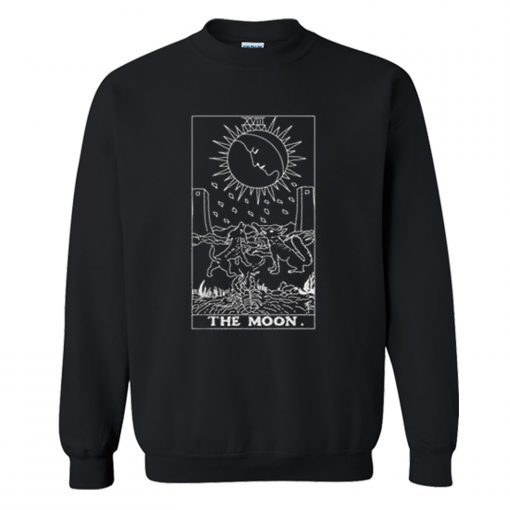 The Moon Tarot Sweatshirt PU27